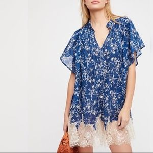 Free People Marigold Lace-Hem Printed Dress